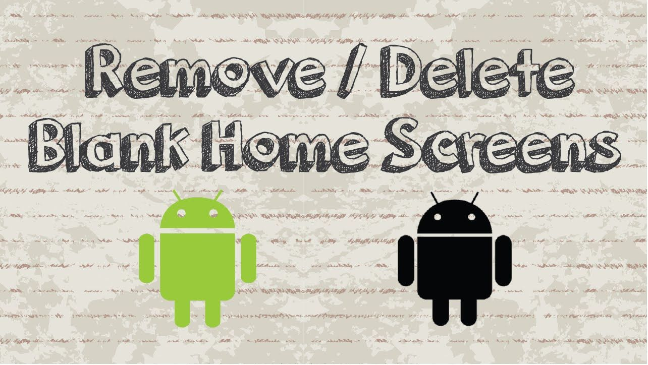 How to remove or delete an unwanted home screens on