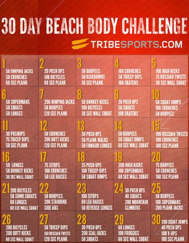 30 day beach body challenge picture workout pinterest