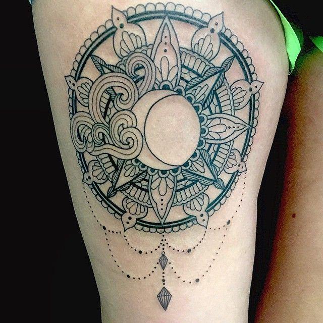 mulpix bodyartvt bodyart tattoo vermont sun moon waves mandala art tattoo. Black Bedroom Furniture Sets. Home Design Ideas