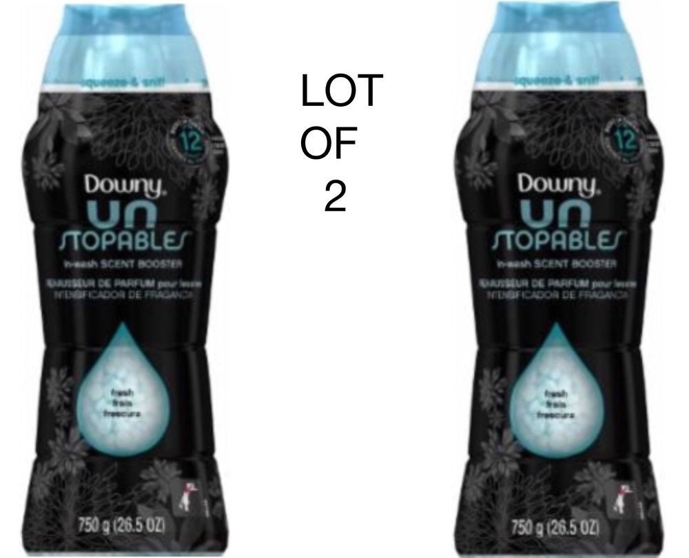 2 Downy Unstopables In Wash Scent Booster Beads Fresh Laundry
