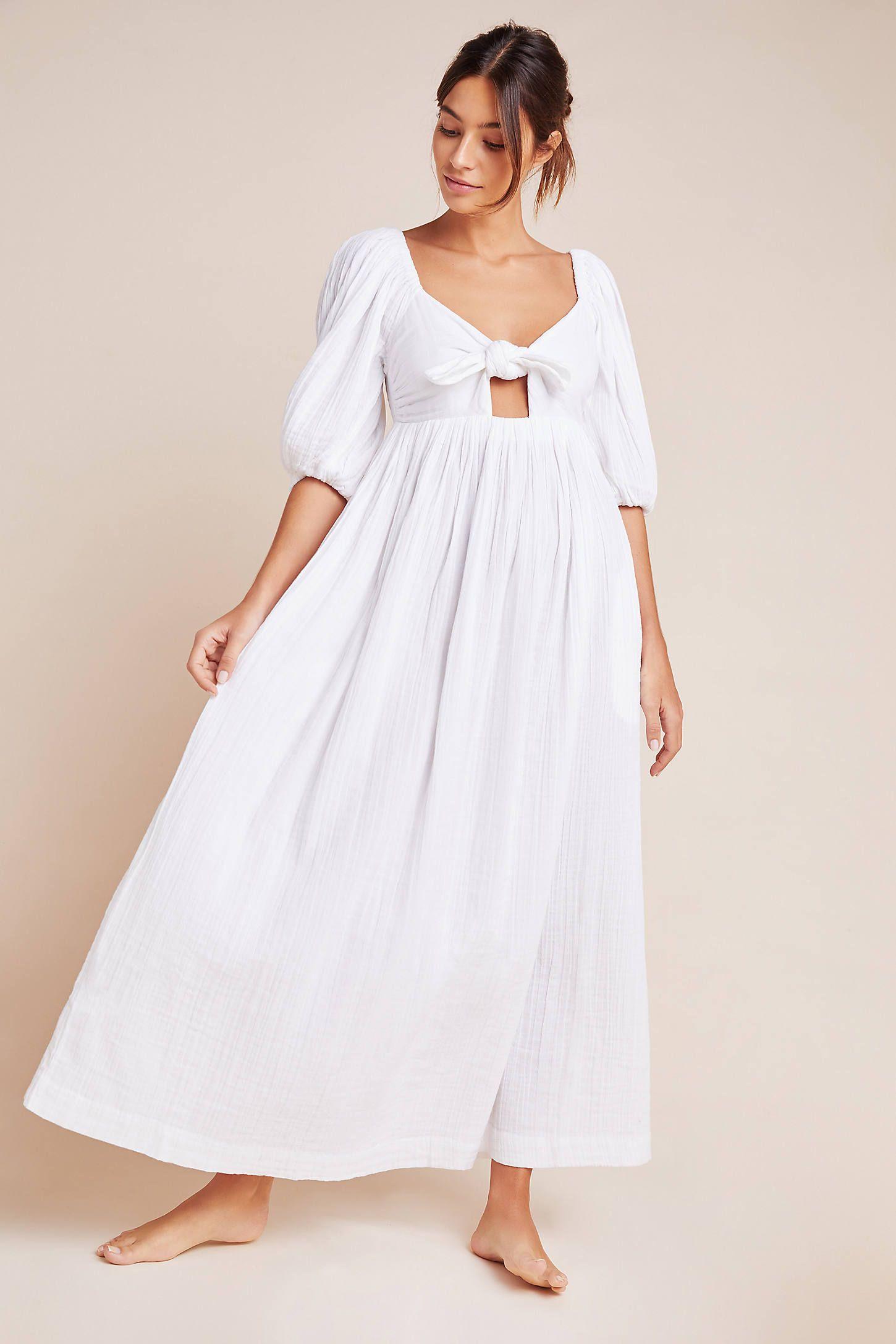 Mara Hoffman Violet Crinkled Organic Cotton Gauze Maxi Dress In White Modesens Gauze Maxi Dress Maxi Dress Dresses [ 2175 x 1450 Pixel ]