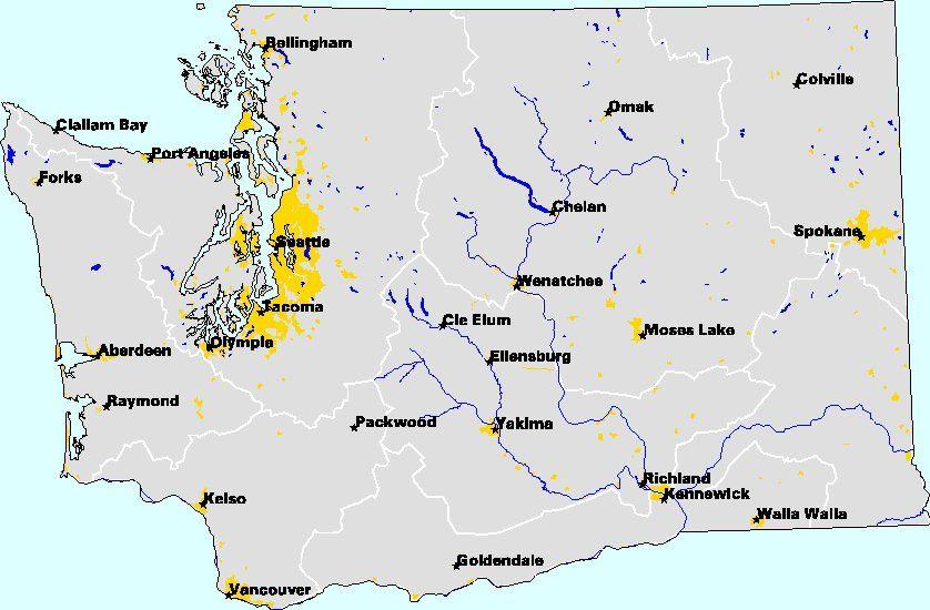 Major Cities Of Washington Map Reasons To Live In Washington