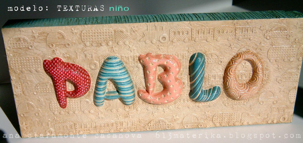 613materika: letreros infantiles- mod. TEXTURAS NIÑO COCHES