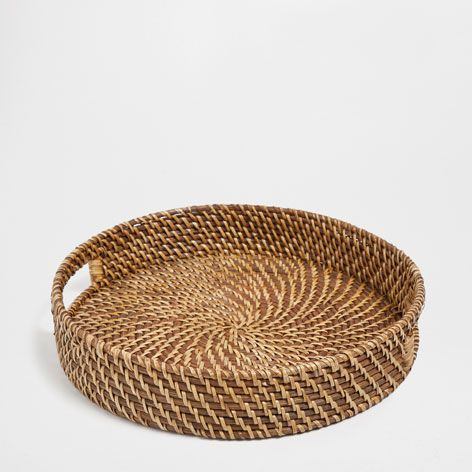Round Rattan Tray   Trays   Tableware | Zara Home United Kingdom