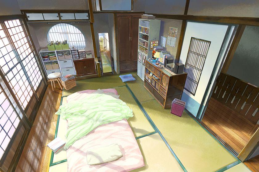 Mitsuha S Room Concept Anime Scenery Anime Art Animation