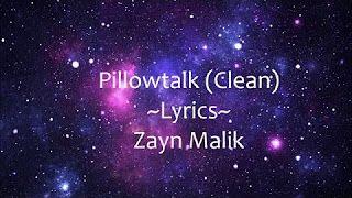 Pillow Talk Lyrics Clean Youtube With Images Lyrics Pillow