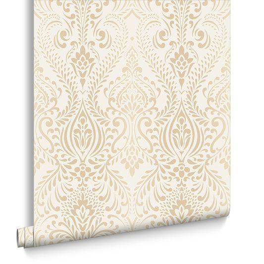 Glamour Damask Cream Gold Damask Wallpaper Bedroom Cream And Gold Wallpaper Damask Wallpaper