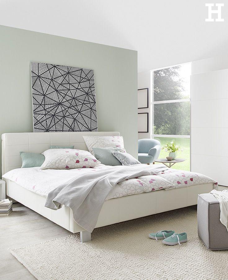 Schlicht Schon Bett Polsterbett Schlafzimmer Einrichtung Idee Furniture Home Room