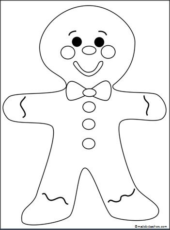 Free Gingerbread Man Coloring Page | colouring for grandkids | Pinterest