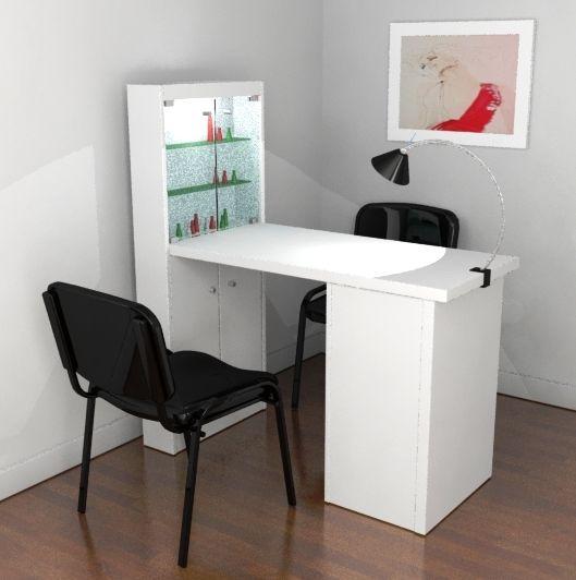 Mesa manicure vitrina muebles decora o de sal o de for Mesas de diseno para salon