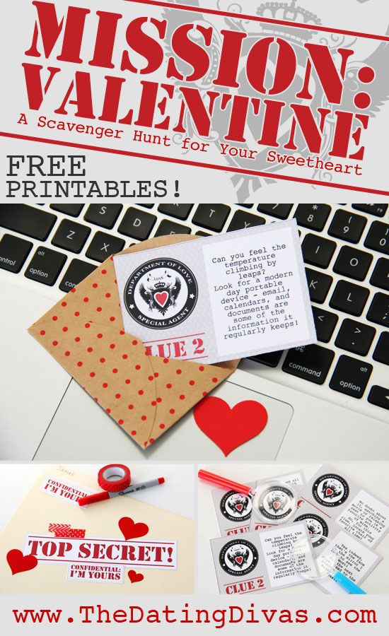 Mission Valentine Scavenger Hunt From Romantic Gift