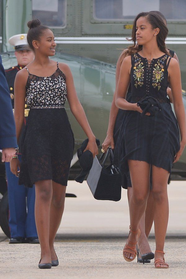 Sasha and Malia Obama  - Sasha and Malia Obama's Most Adorable Style Moments Over the Years