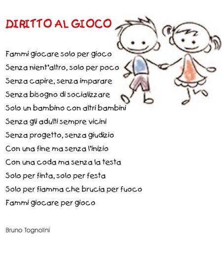 Favoloso Diritti del bambino poesia | Diritti dei bambini | Pinterest TT06