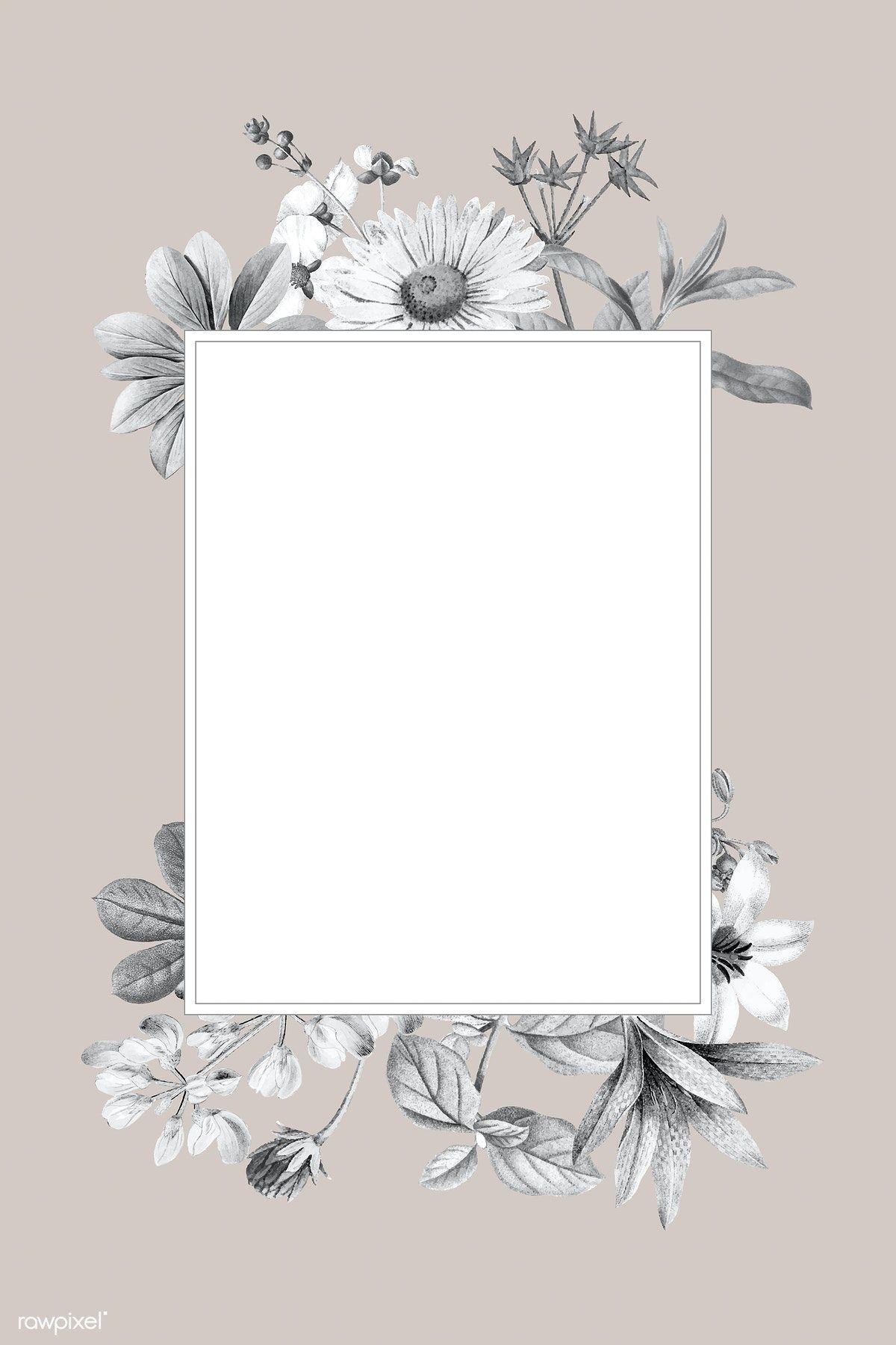 Download premium vector of Blank floral frame design ...