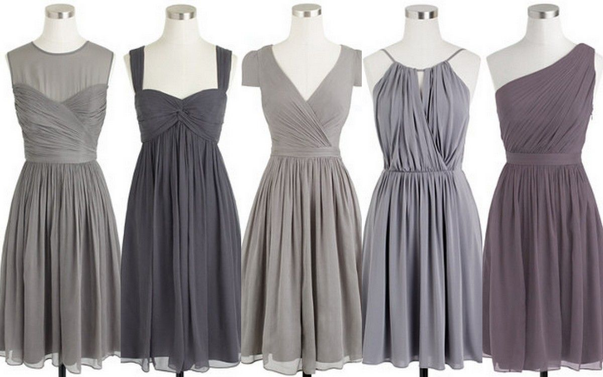 Bridesmaid Style Inspiration Design Turbulence Gray Dress Ideas J Crew