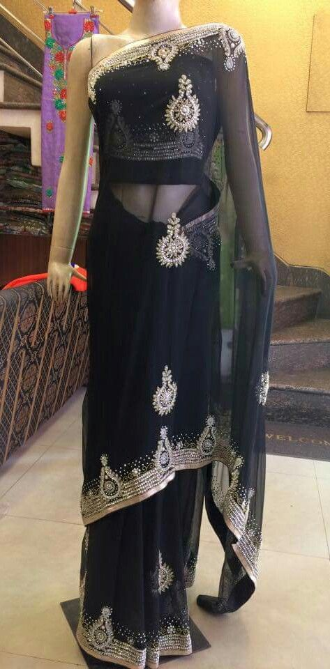 #PartyWearSareesShopping #LatestSareesSale #DesignerSareesShopping #StylishSareesOnlineIndia  Fabric:Georgete  Price:8500  Maharani Designer Boutique  www.maharanidesigner.com   Contact.8699101094