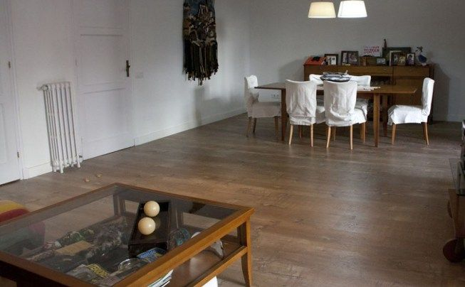 Floover installation in a private home barcelona spain ref synchro endless old sc3013 - Acron tarimas ...
