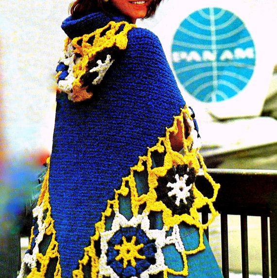 INSTANT DOWNLOAD PDF Vintage Crochet Pattern Granny Motif Medallion ...