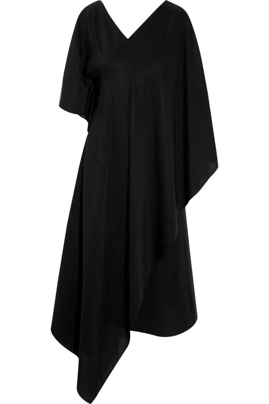Agnona | Draped silk crepe de chine dress | NET-A-PORTER.COM