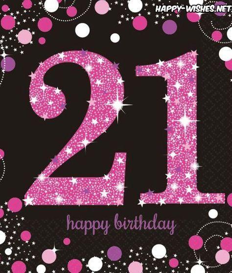 Funny Birthday Wishes Pink: Happy 21st Birthday Wishes