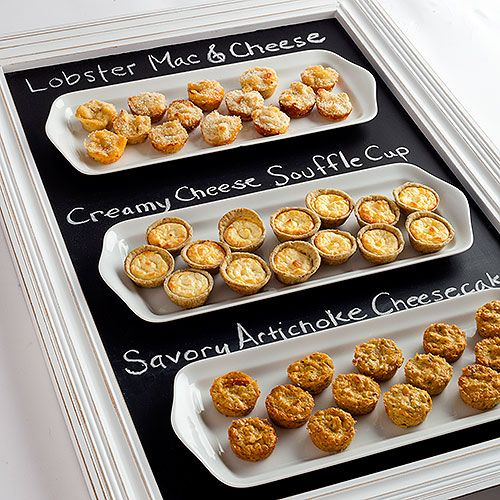 Comfort Appetizer Collection: ONLY AT DEAN & DELUCA. Individual servings of cheddar- and mascarpone-rich Lobster Mac & Cheese; savory little Artichoke Cheesecakes; and light and delicate Creamy Cheese Soufflé Cups. - $65 @ www.DeanDeLuca.com