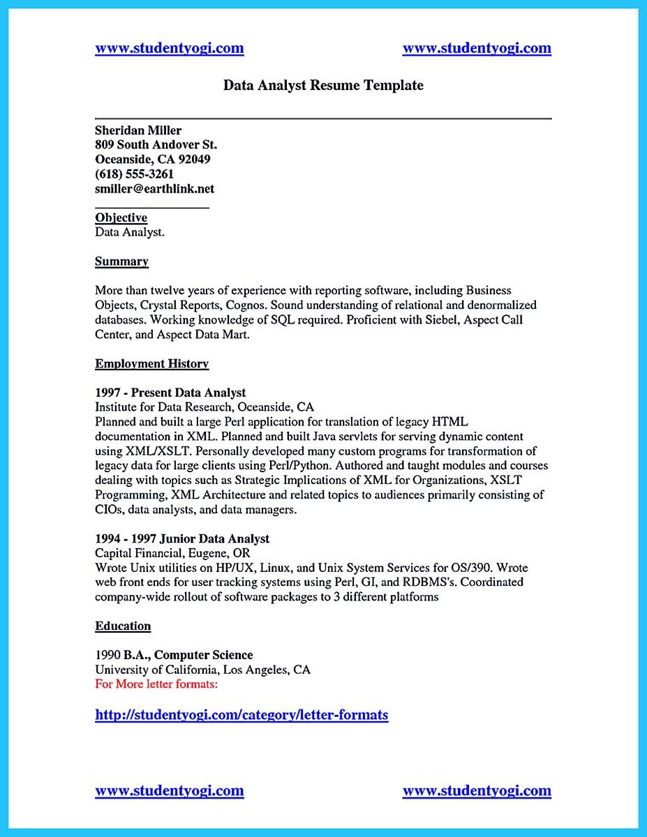 Program Analyst Resume Nice High Quality Data Analyst Resume Sample From Professionals