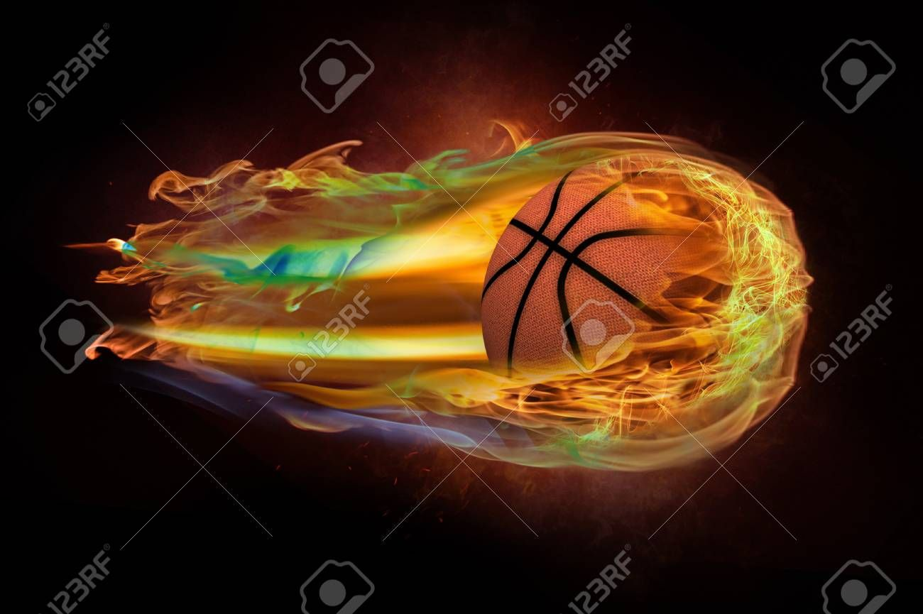 Flying Basketball On Fire Stock Photo Sponsored Basketball Flying Fire Photo Stock Creative Flyer Design Fire Stock Flyer Design