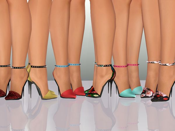 SKOK High Heels with studs by ShakeProductions - Free Sims 3 Shoes ...