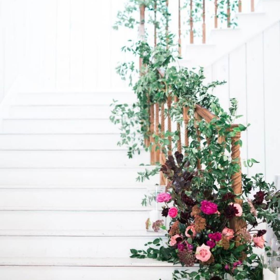 It's a mystery to us why all staircases aren't this pretty all the time!