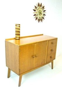 Charmant Vintage Light Oak Small 4ft Sideboard/Cabinet By Meredew, 1950s Retro  Furniture | EBay