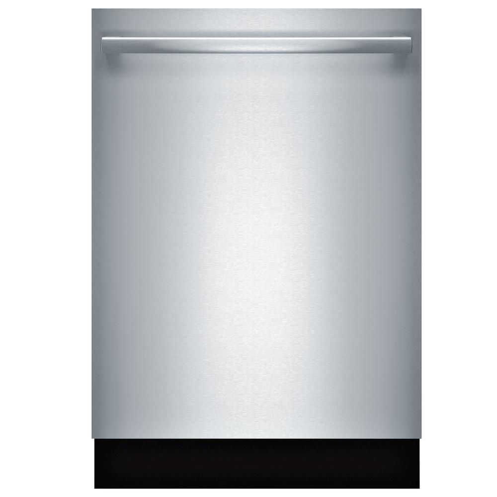 Bosch 800 Series Top Control Tall Tub Bar Handle Dishwasher In Stainless Steel With Stainless Steel Tub And 3rd Rack 39dba Shxm98w75n The Home Depot Built In Dishwasher Steel Tub Bosch Dishwashers