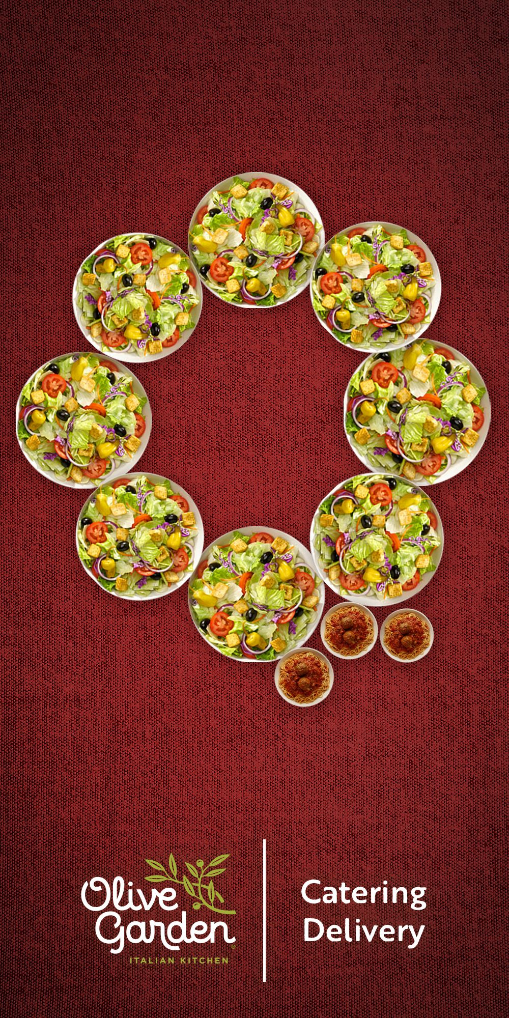 Feeling festive? So are we! Order Olive Garden catering