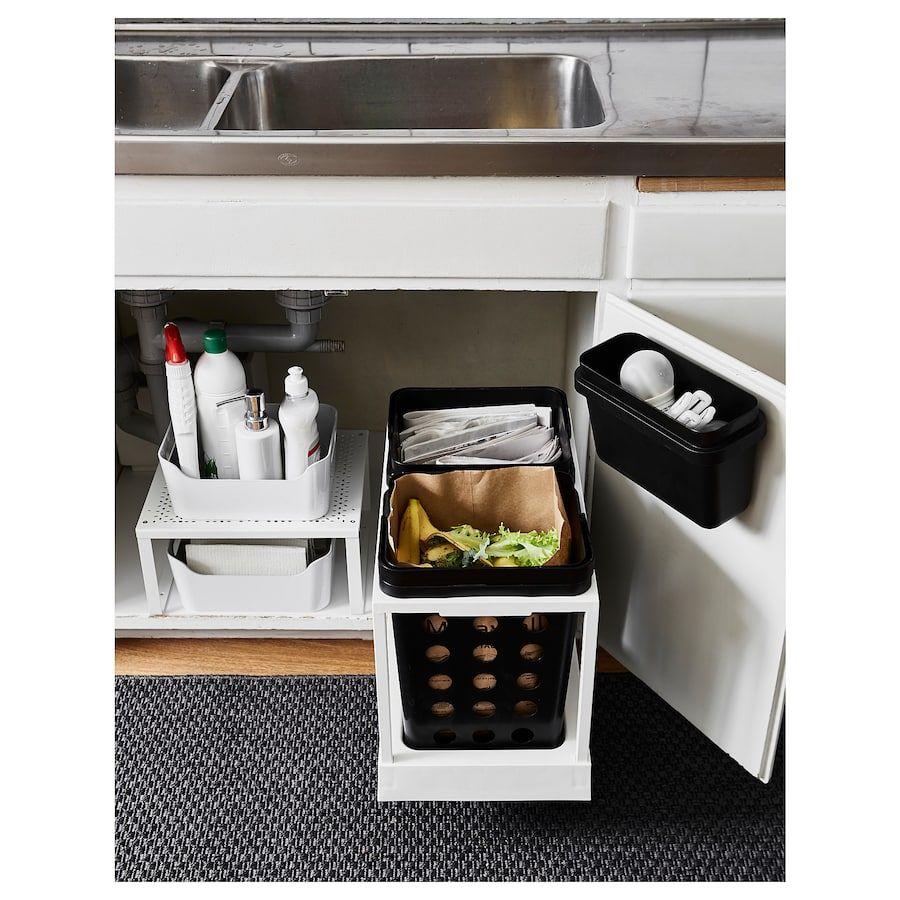 IKEA VARIERA Recycling bin  Kitchen sink storage, Cupboards