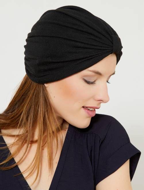 ca28996bda8e Bonnet turban noué noir Femme - Kiabi   WISHLIST VETEMENTS   ACCESSOIRES