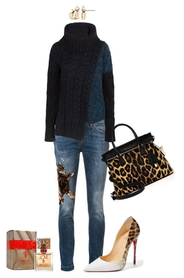 """Leopard Love"" by romaosorno ❤ liked on Polyvore featuring Dolce&Gabbana, STELLA McCARTNEY, Pet Friends, Christian Louboutin, Maison Margiela and Jennifer Lopez"
