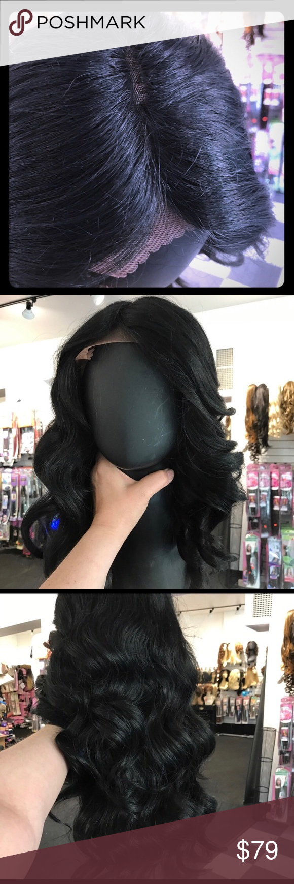 Long Deep Wave Raven Black Wig Swisslace All Color  Styling tools