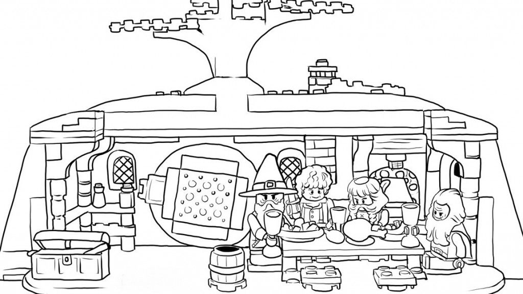 Lego Hobbit Coloring Pages Coloriage