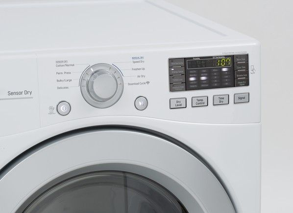 LG DLE3170W 27 Inch Electric Dryer with 7 4 cu  ft  Capacity
