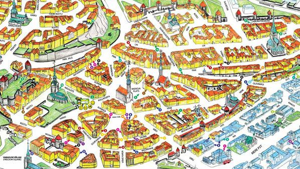 Tallinn Map Useful maps of Tallinn Baltic Trip Pinterest