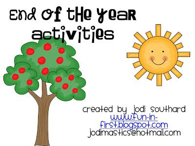 Free Fun in First Grade Summer Activity Calendar and End of the - activity calendar