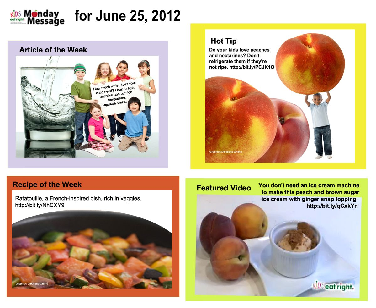 Kids Eat Right, Monday Message for June 25, 2012