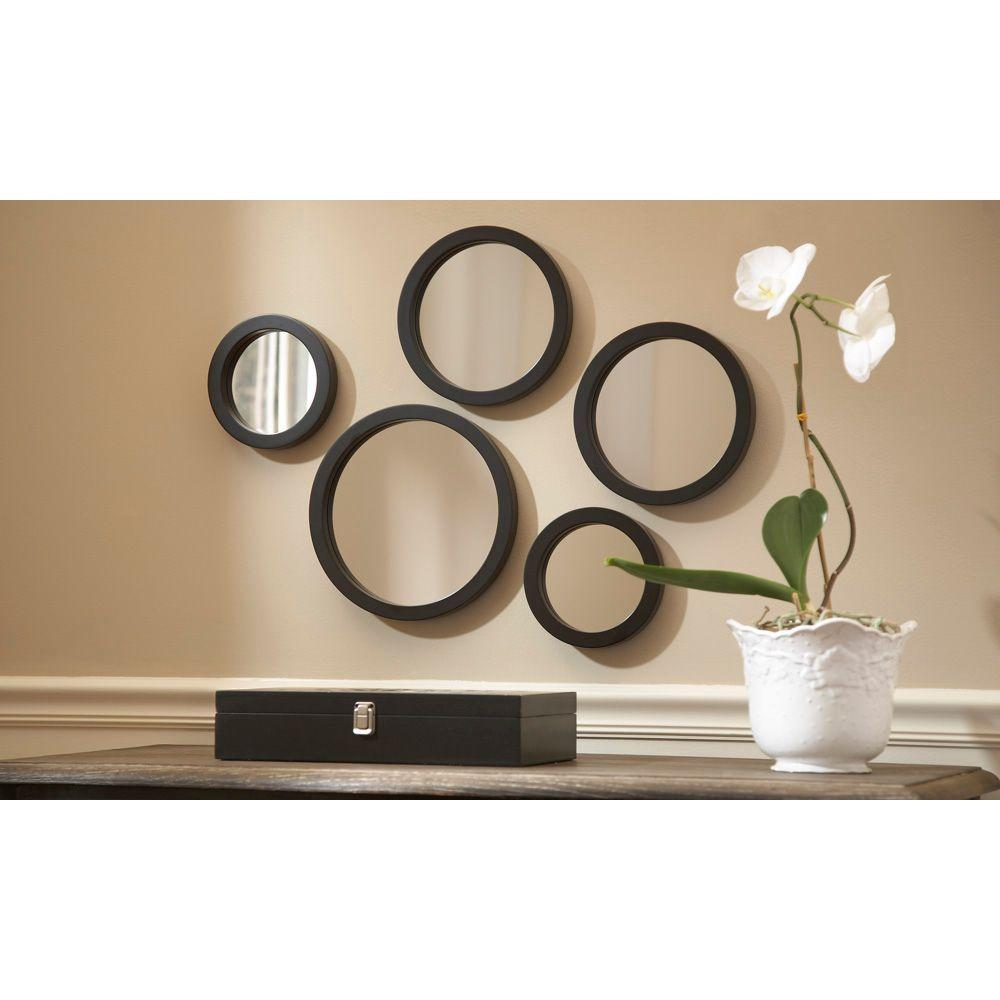Above The Coach In The Living Room Set Of 5 Wall Mirrors Wall Mirrors Set Mirror Set