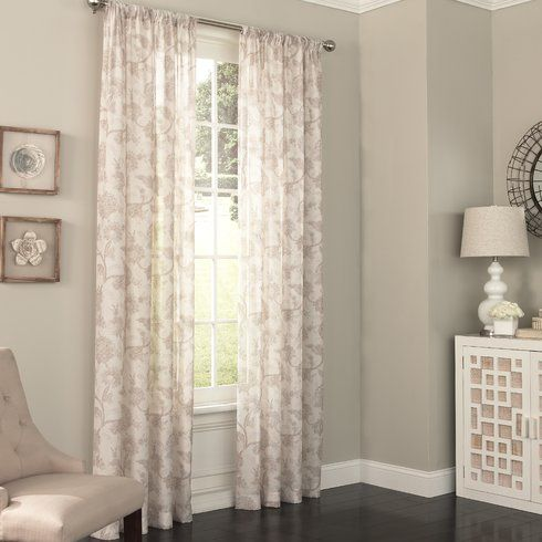 Fashion Meets Function In This Eclipse Charlene UV Light Filtering Sheer Curtain
