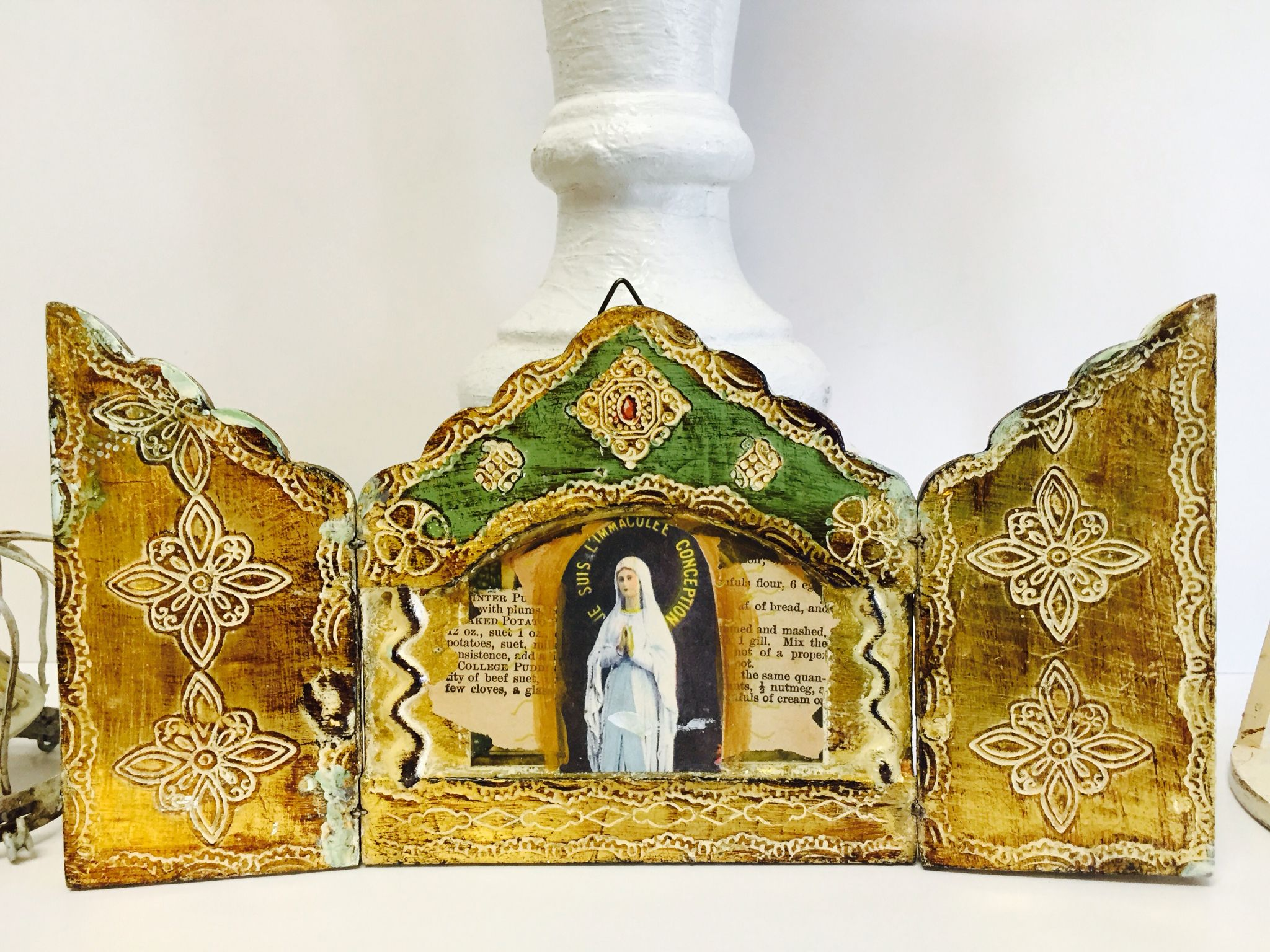 Virgin Mary Shrine/ Relics and Artifacts on the front