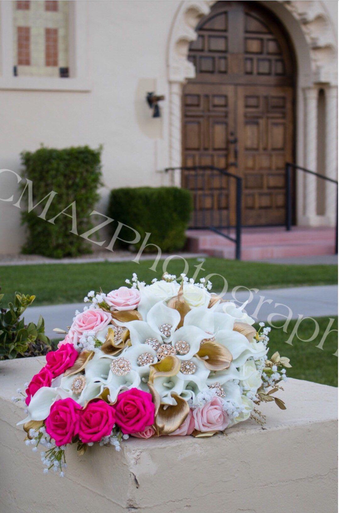 Brides Cascading Bouquet Wedding Bouquet, Bridal Bouquet