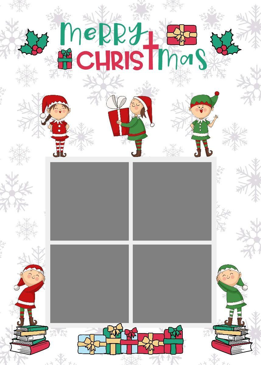 Elf Christmas Card Photoshop Template For The Holidays Christmas Card Photoshop Elf Christmas Card Christmas Elf