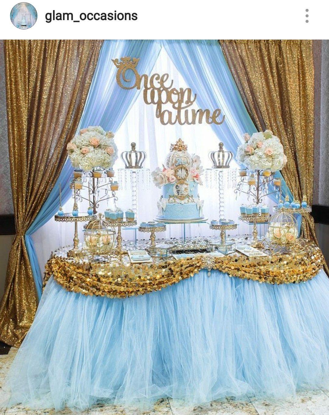 Cinderalla Inspired Birthday Party Dessert Table And Decor Cinderella Party Theme Cinderella Birthday Party Cinderella Quinceanera Themes
