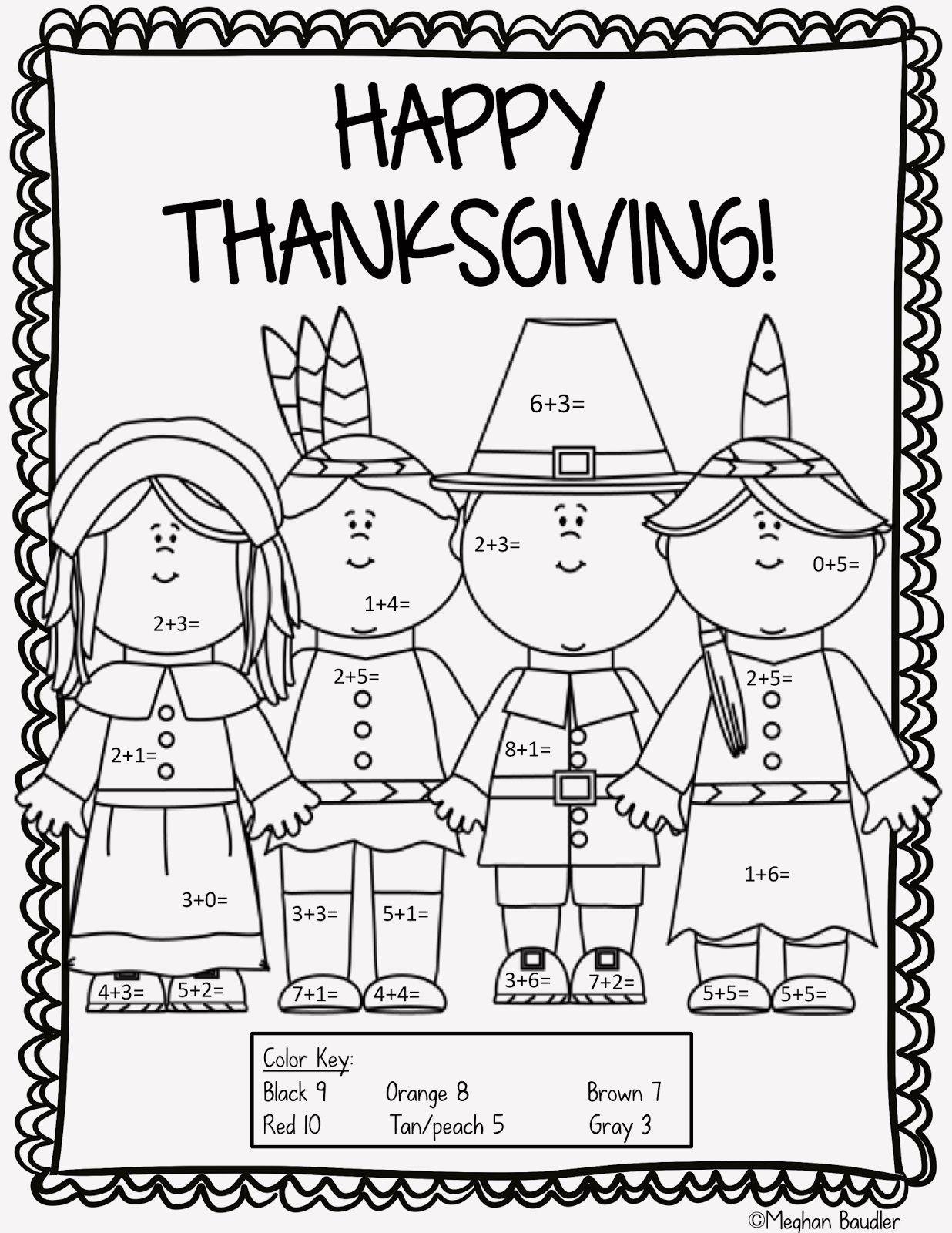 14 Thanksgiving Fun Sheets In