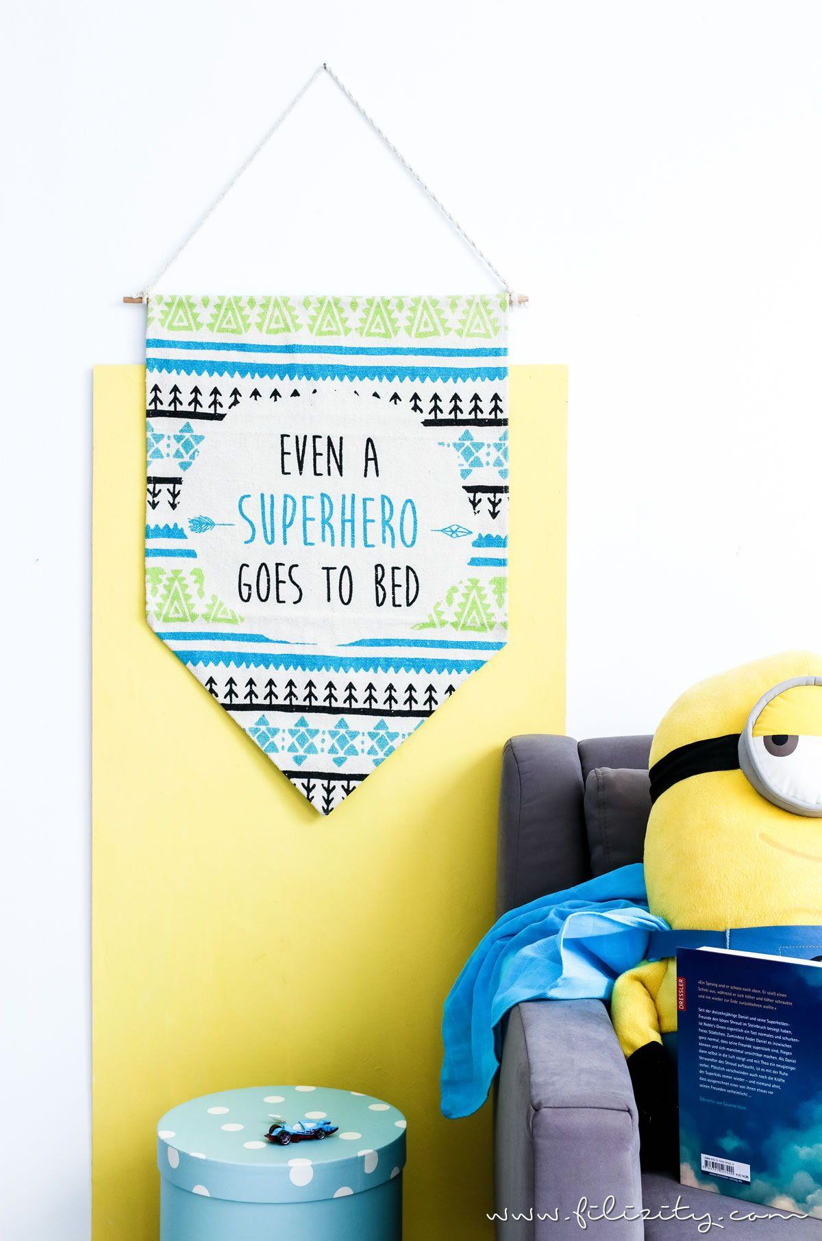 kinderzimmer-deko selber machen: diy wimpel aus teppich | || diy