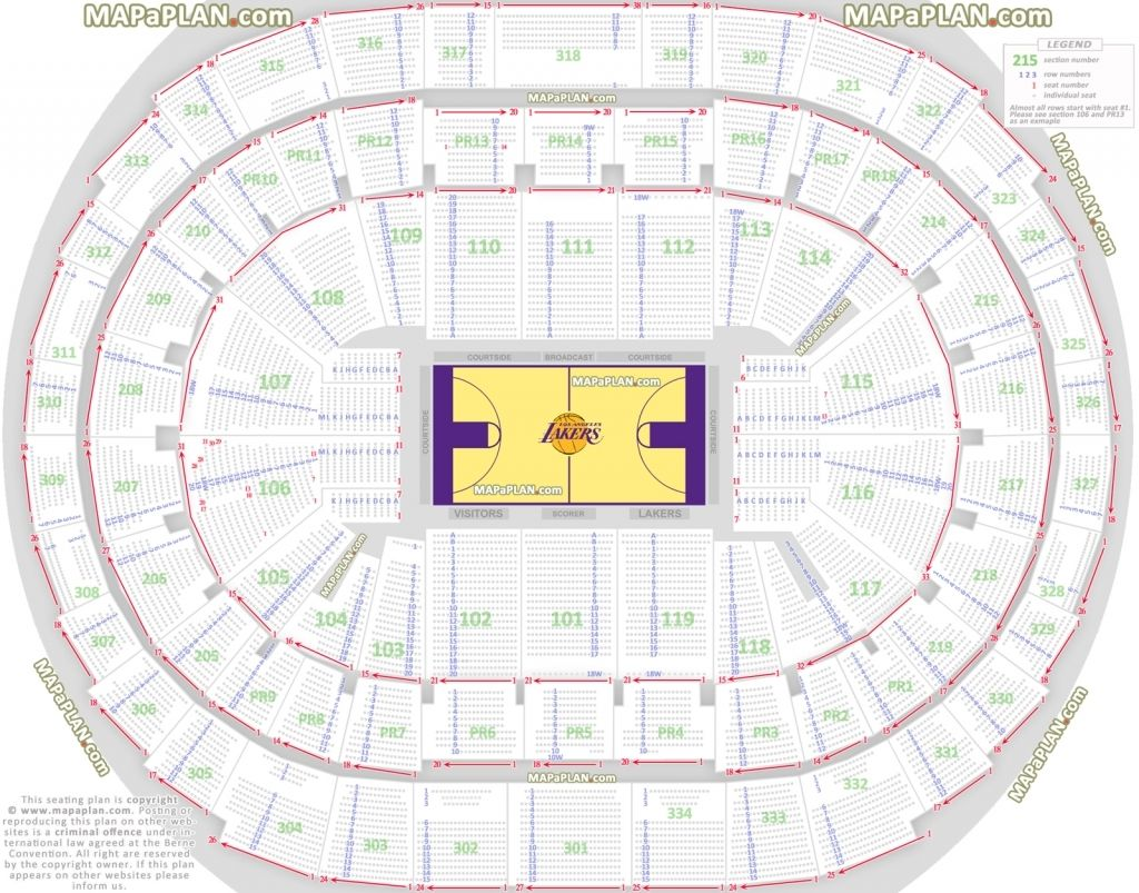 The Incredible staples center seating chart lakers in 2020